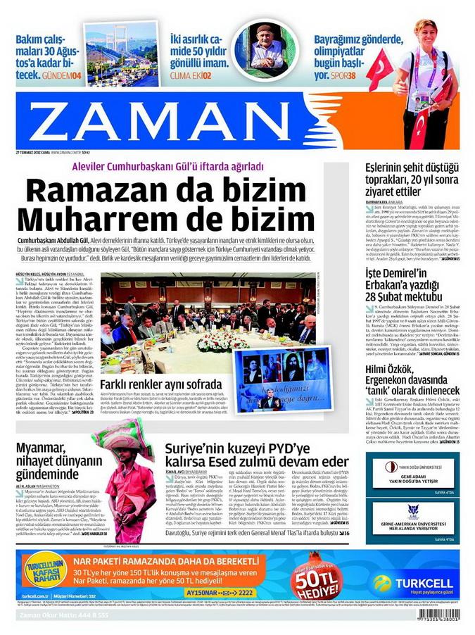 Gazete Manşetleri - 27 Temmuz 2012 23