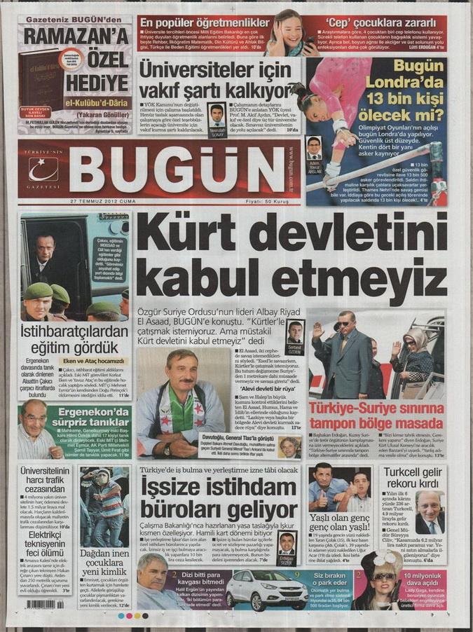 Gazete Manşetleri - 27 Temmuz 2012 3