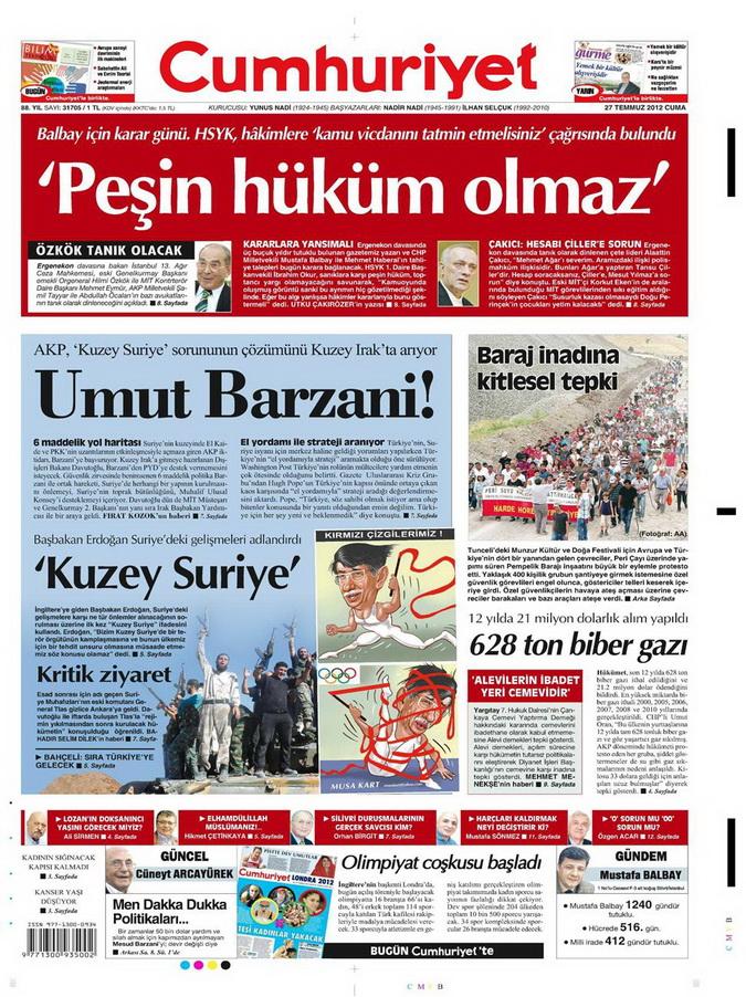 Gazete Manşetleri - 27 Temmuz 2012 4