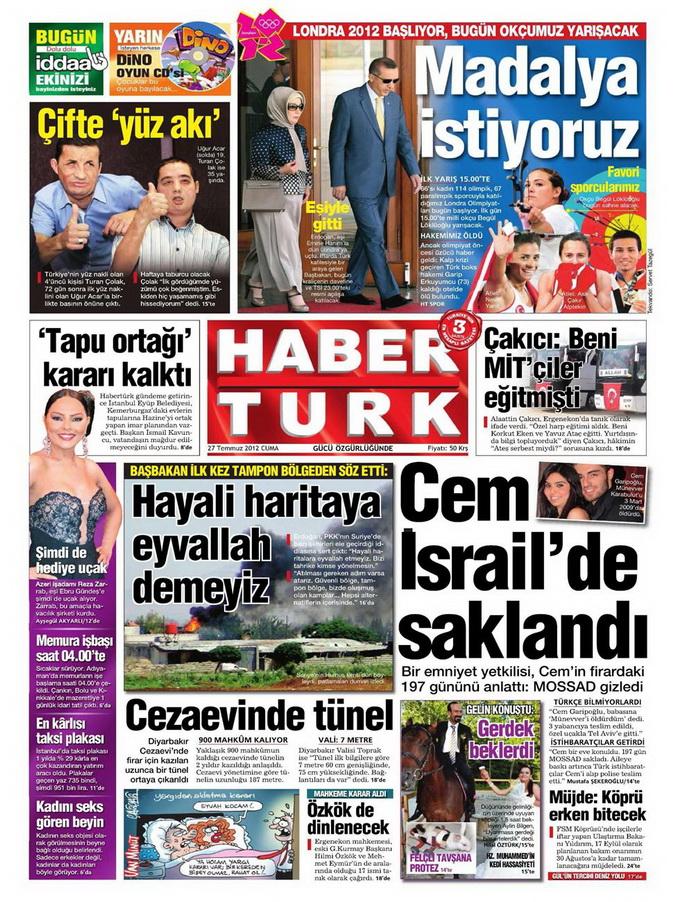 Gazete Manşetleri - 27 Temmuz 2012 5