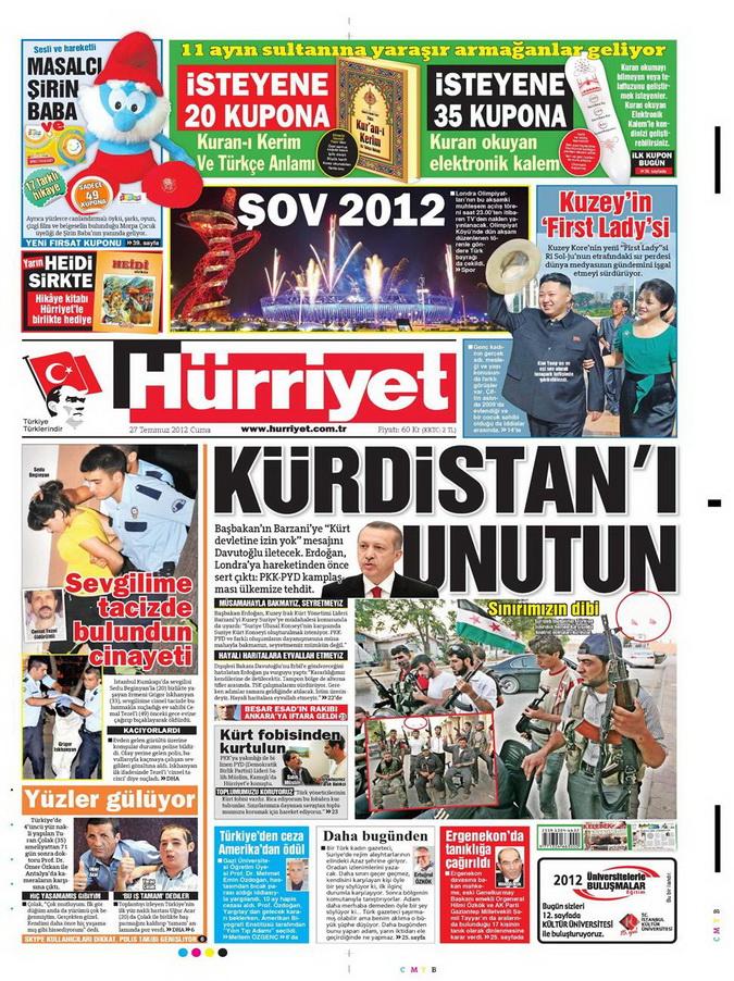 Gazete Manşetleri - 27 Temmuz 2012 6