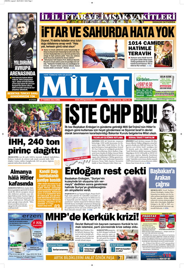 Gazete Manşetleri - 27 Temmuz 2012 7