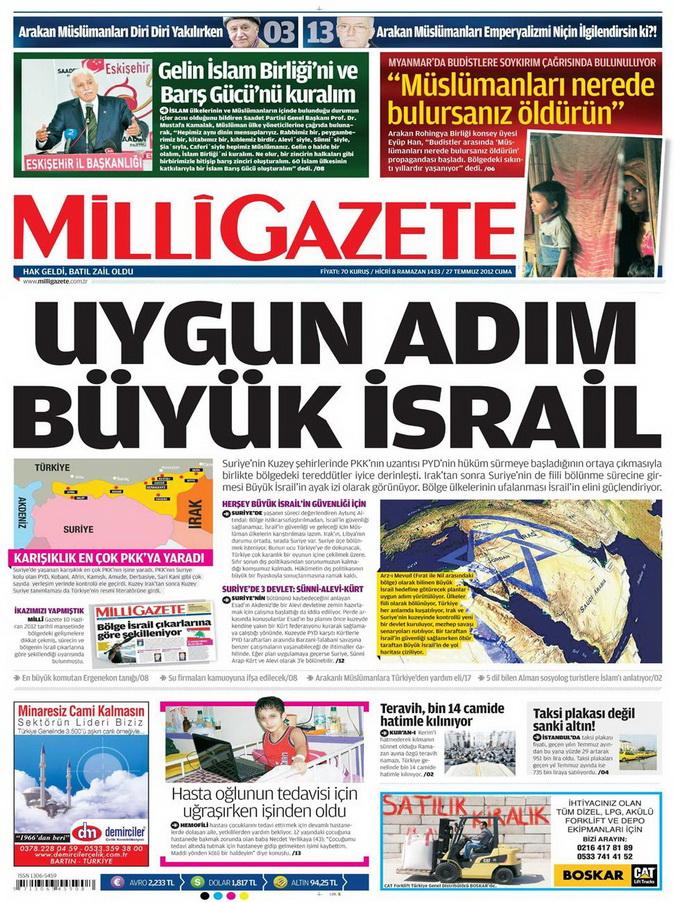 Gazete Manşetleri - 27 Temmuz 2012 8