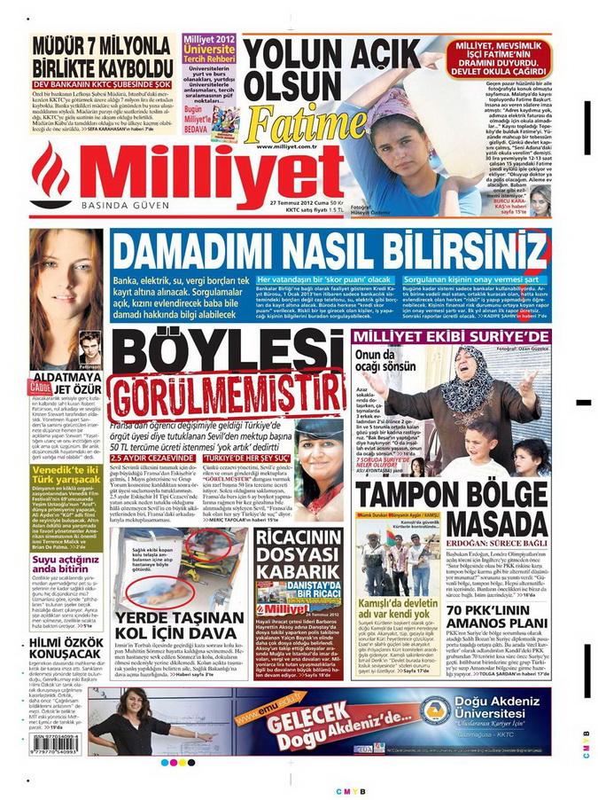 Gazete Manşetleri - 27 Temmuz 2012 9
