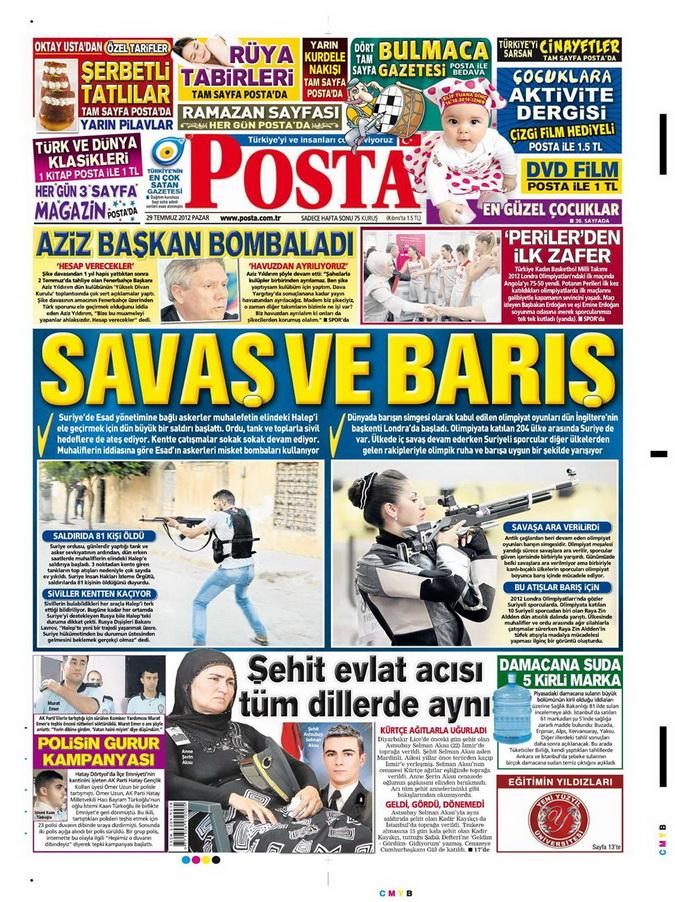 Gazete Manşetleri - 29 Temmuz 2012 12
