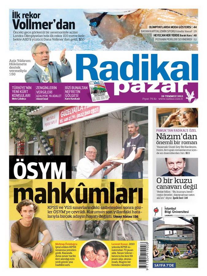 Gazete Manşetleri - 29 Temmuz 2012 13