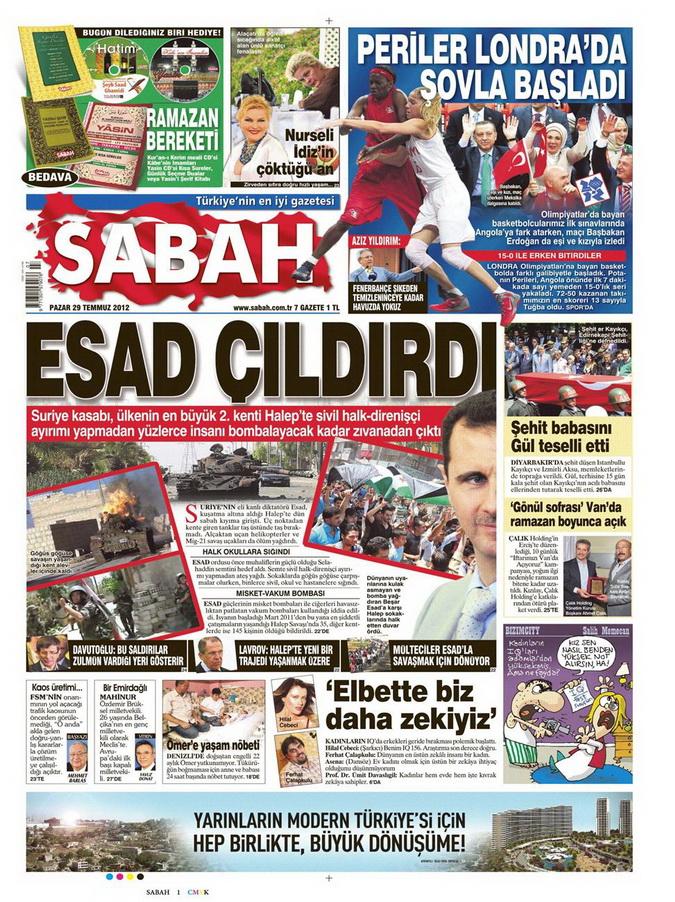 Gazete Manşetleri - 29 Temmuz 2012 14