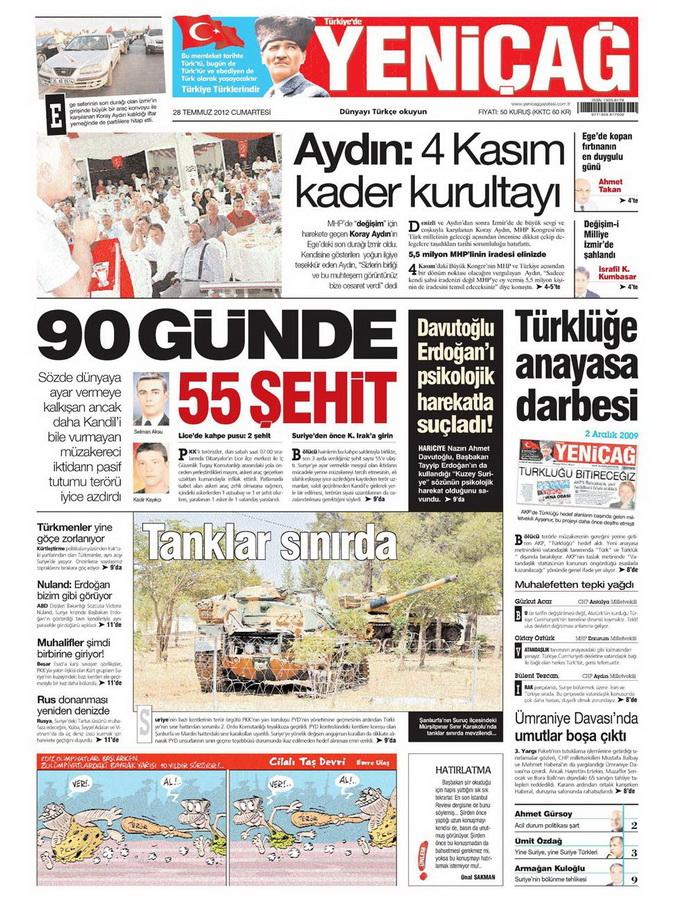 Gazete Manşetleri - 29 Temmuz 2012 20