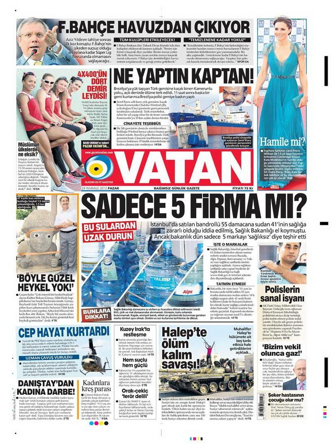 Gazete Manşetleri - 29 Temmuz 2012 21