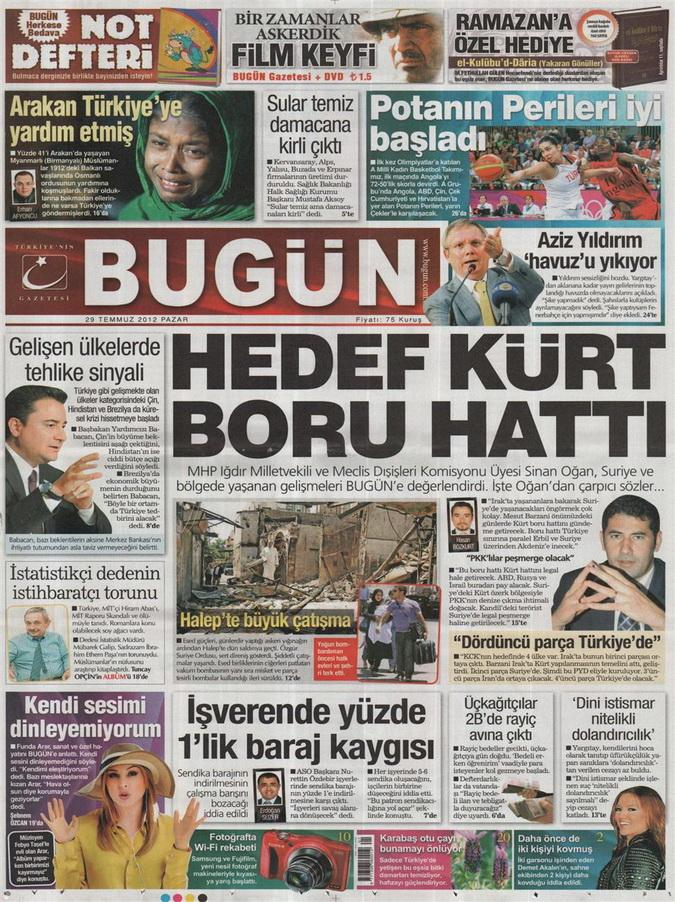 Gazete Manşetleri - 29 Temmuz 2012 3