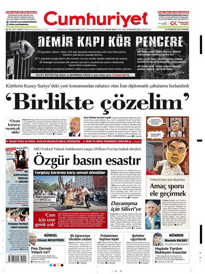 Gazete Manşetleri - 29 Temmuz 2012 4
