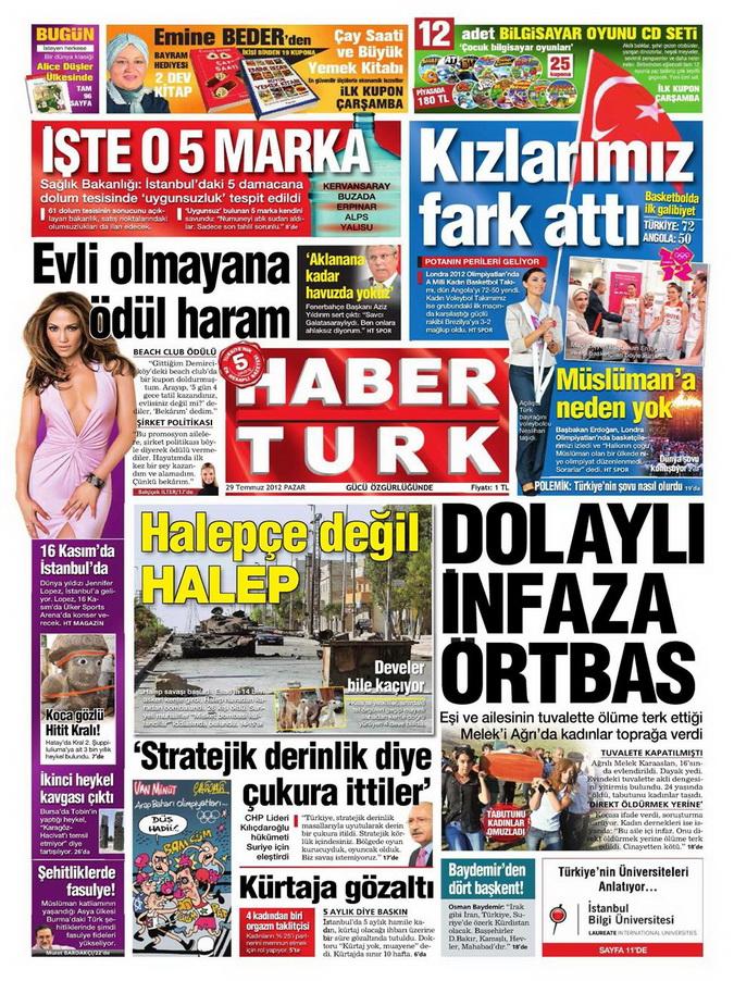 Gazete Manşetleri - 29 Temmuz 2012 6