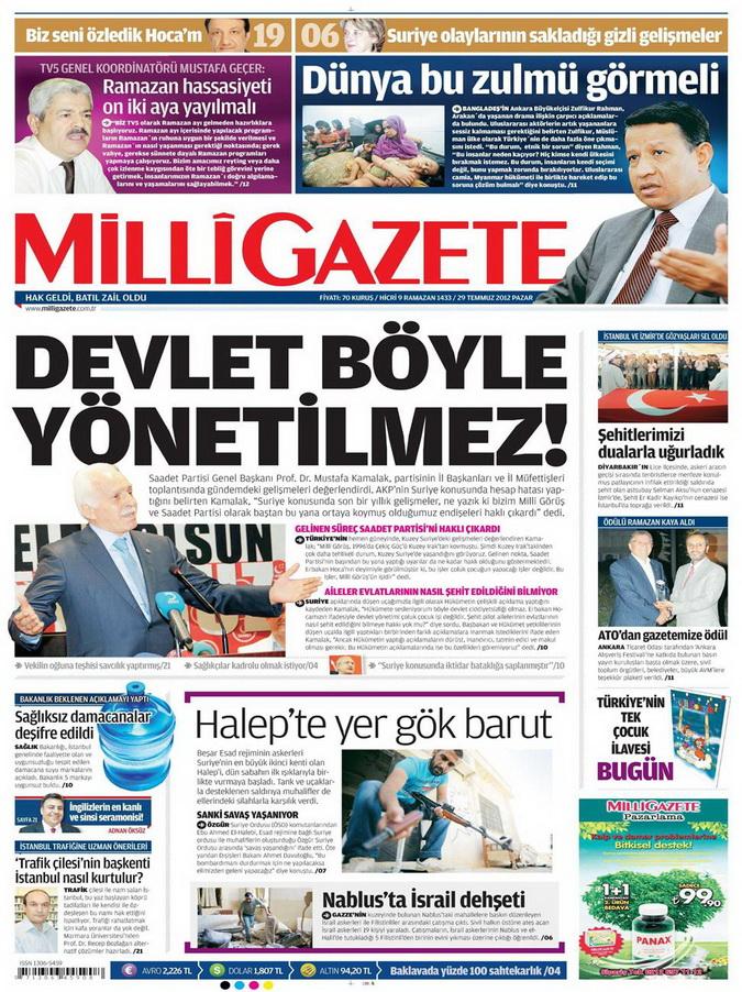 Gazete Manşetleri - 29 Temmuz 2012 9
