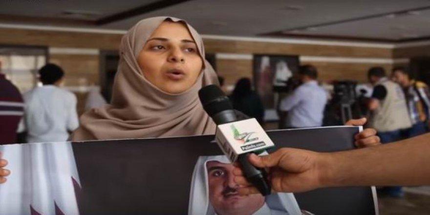 Gazze'de Binlerce Fakir ve Yetim'den Katarla Dayanışma Gösterisi