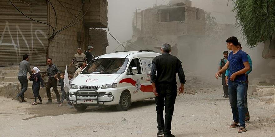 Esed Güçleri Sivil Savunma Merkezine Saldırdı!