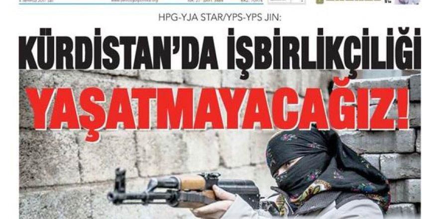 PKK'lı Özgür Politika Gazetesi'nden Tehdit: Kürdistan'da Muhalifleri Yaşatmayacağız