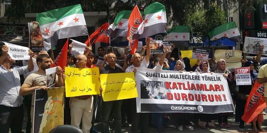 Lübnan'daki Suriyeli Mültecilere Yönelik Katliamlar İstanbul'da Lanetlendi!