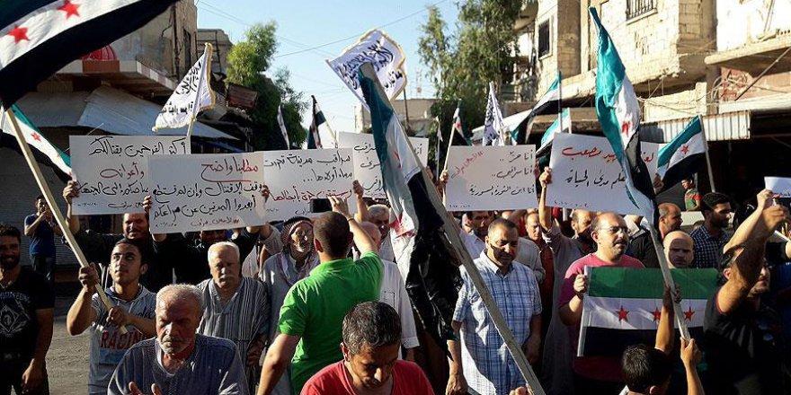 Ahraru'ş Şam ve Heyet Tahrir Şam'ın Çatışmasına Protesto
