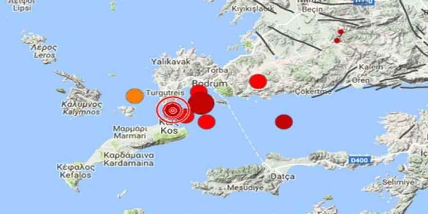 Ege'de Gece Yarısı 6,3'lük Deprem