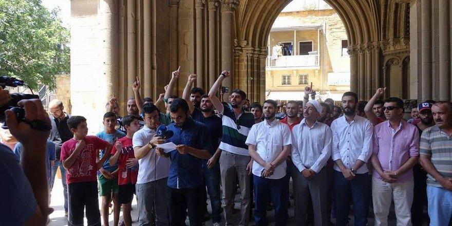 Kıbrıs'taki STK'lar Siyonist İsrail'i Protesto Etti