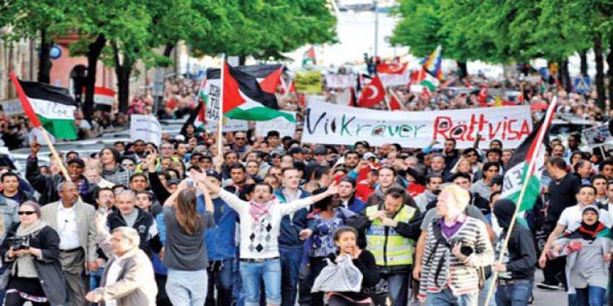 İşgalci İsrail'in Mescid-i Aksa'ya Yönelik Zulümleri İsveç'te Tel'in Edildi