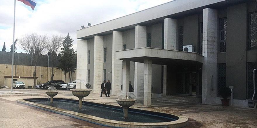 Rusya'nın Şam Büyükelçiliği'ne Havan Topu Saldırısı!