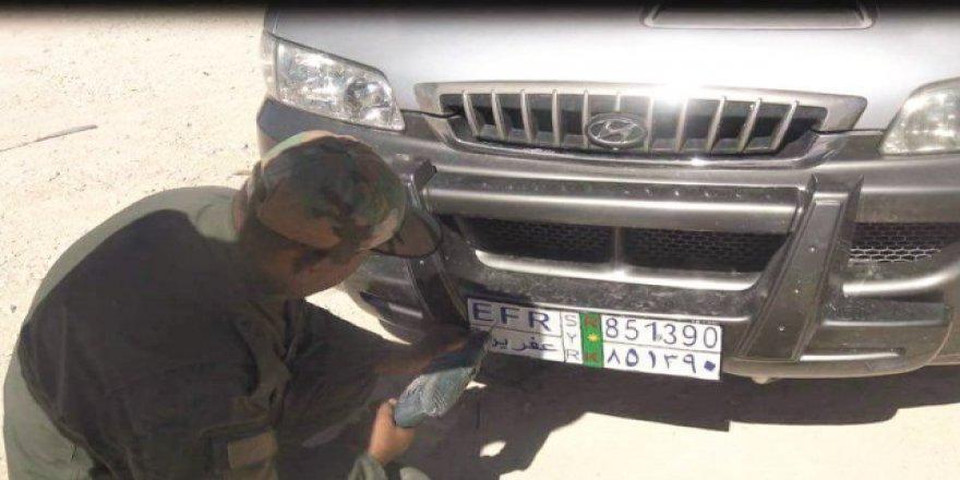 PYD'den Afrin'de 'Özel Plaka' Uygulaması