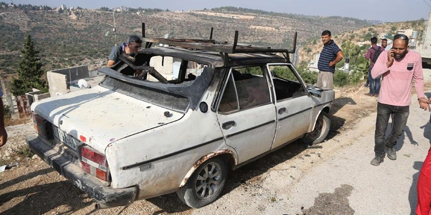 Siyonist Yerleşimciler Filistinlilerin Araçlarını Yaktı!