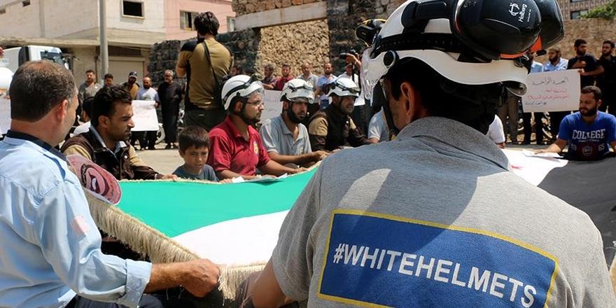 Suriye'de Beyaz Baretliler'e Destek Gösterileri