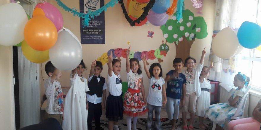 Kahramanmaraş Özgür Çocuk Kulübünün Düzenlediği Yaz Okulu Sona Erdi