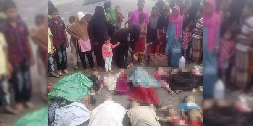 Arakan'daki Katliamdan Kaçıp Nehirde Boğuldular!