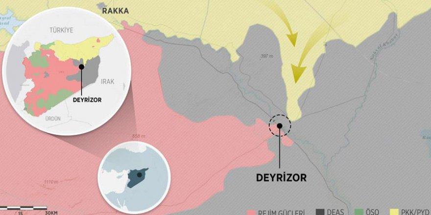 IŞİD, Deyrizor'u PKK/PYD'ye Bırakıyor