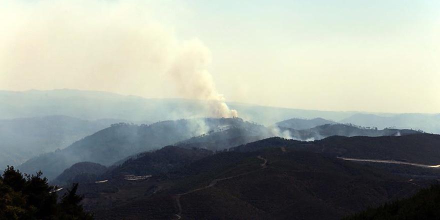 Türkmendağı'ndaki Orman Yangını Devam Ediyor!