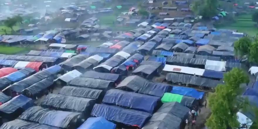 Havadan Görüntülerle Arakanlıların Kaldığı Roikhong Kampı