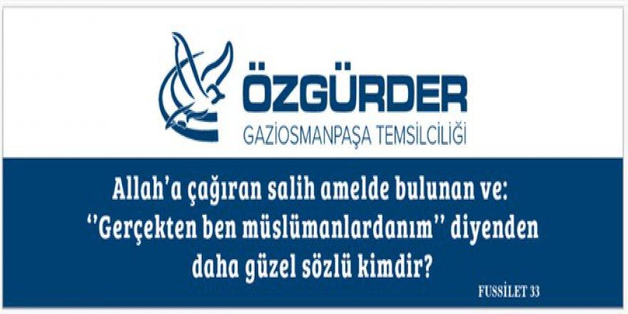 Gaziosmanpaşa Özgür-Der 2017-2018 Faaliyet Dönemi Başladı