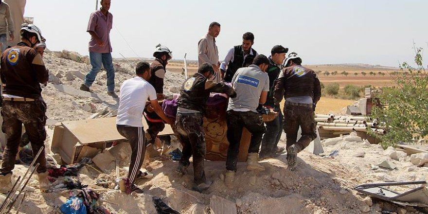 İdlib'de Sivillere Yönelik Yoğun Hava Saldırıları Sürüyor