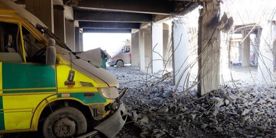 Rusya İdlib'de Bir Hastaneyi Daha Yerle Bir Etti!
