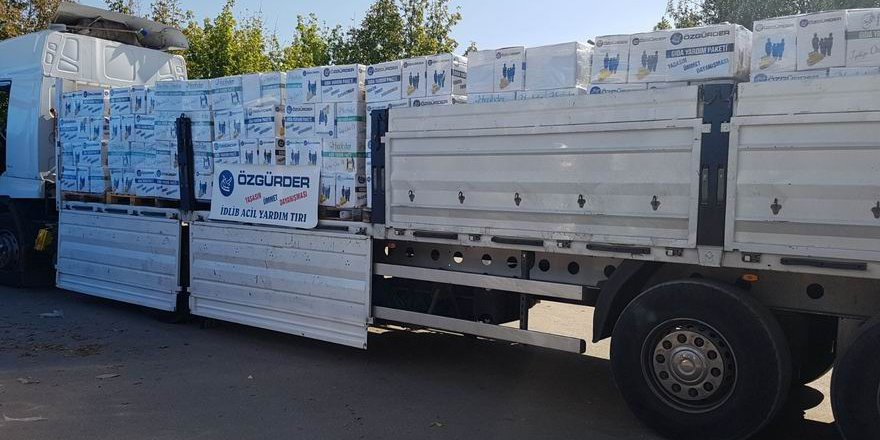Özgür-Der ve Fetih-Der'den İdlib'e 3000 Koli Gıda Yardımı