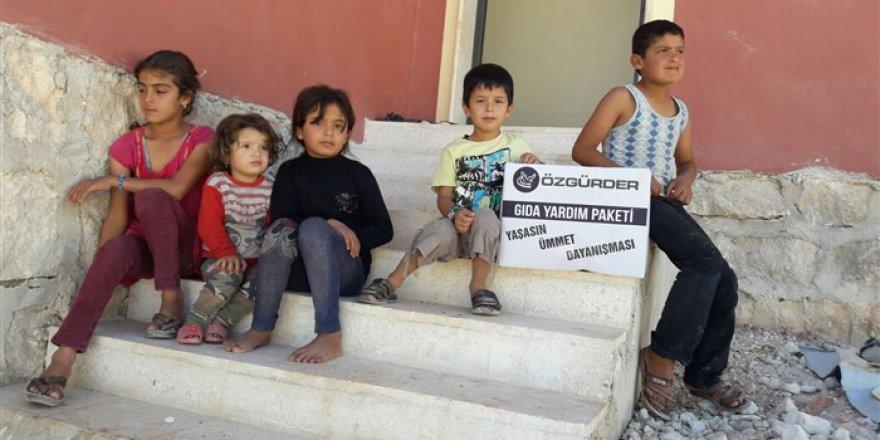 Özgür-Der'den Suriye'de Şehit Aileleri ve Yetimlere Yardım