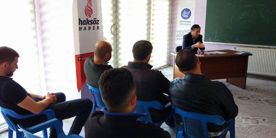 """Muş Özgür-Der'de """"Babanzade Ahmed Naim"""" Semineri"""