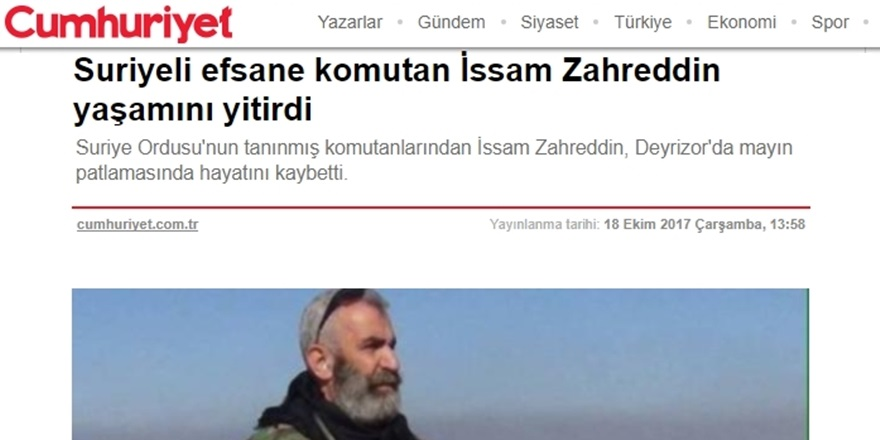 Cumhuriyet'ten Katile Övgü!