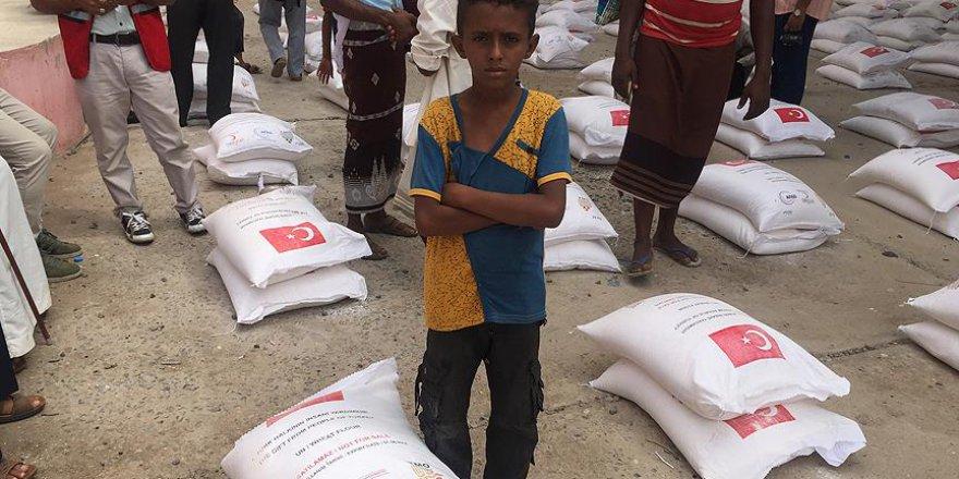 Türk Kızılayından Yemen'e Gıda Yardımı