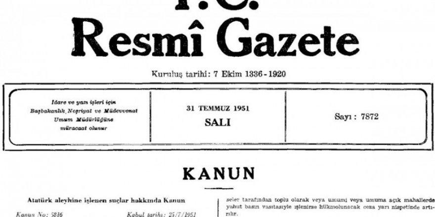 Ölmüş Gitmiş Bir Şahsı Kanunla Korumaya Almanın Mantığı