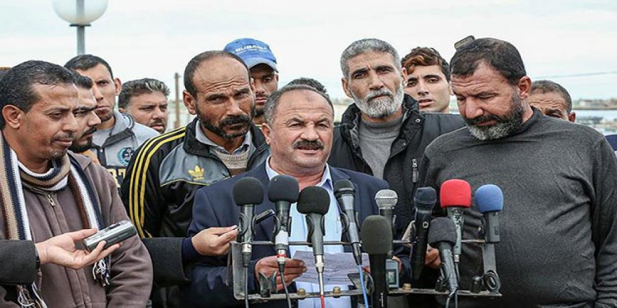 Gazzeli Balıkçılardan 'Deniz Ablukası' Karşıtı Gösteri