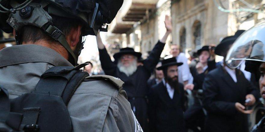 Kudüs'te 'Zorunlu Askerlik Karşıtı Yahudilerin' Eylemlerine Müdahale