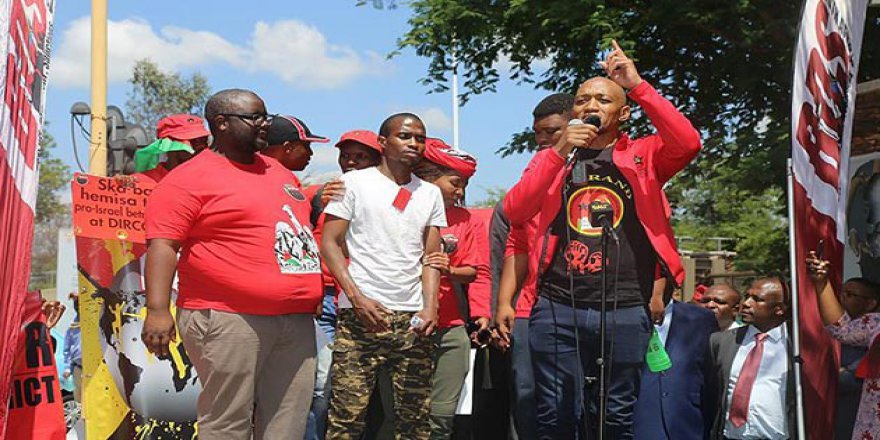 Güney Afrika'da Filistin'e Destek Gösterisi