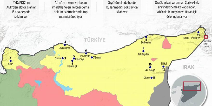 AA PYD/PKK'nın Suriye'deki Silah Depolarını İfşa Etti