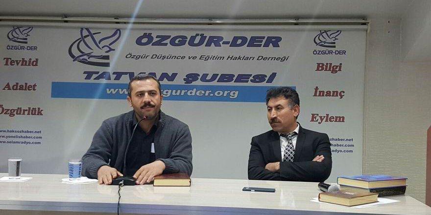 """Tatvan Özgür-Der'de """"Şeyh Said"""" Konuşuldu"""