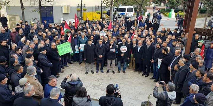 ABD'nin Kudüs Kararı Yalova'da Protesto Edildi