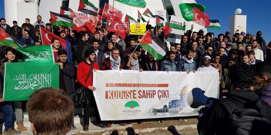 ABD'nin Kudüs Kararı Kocaeli Üniversitesi'nde Protesto Edildi